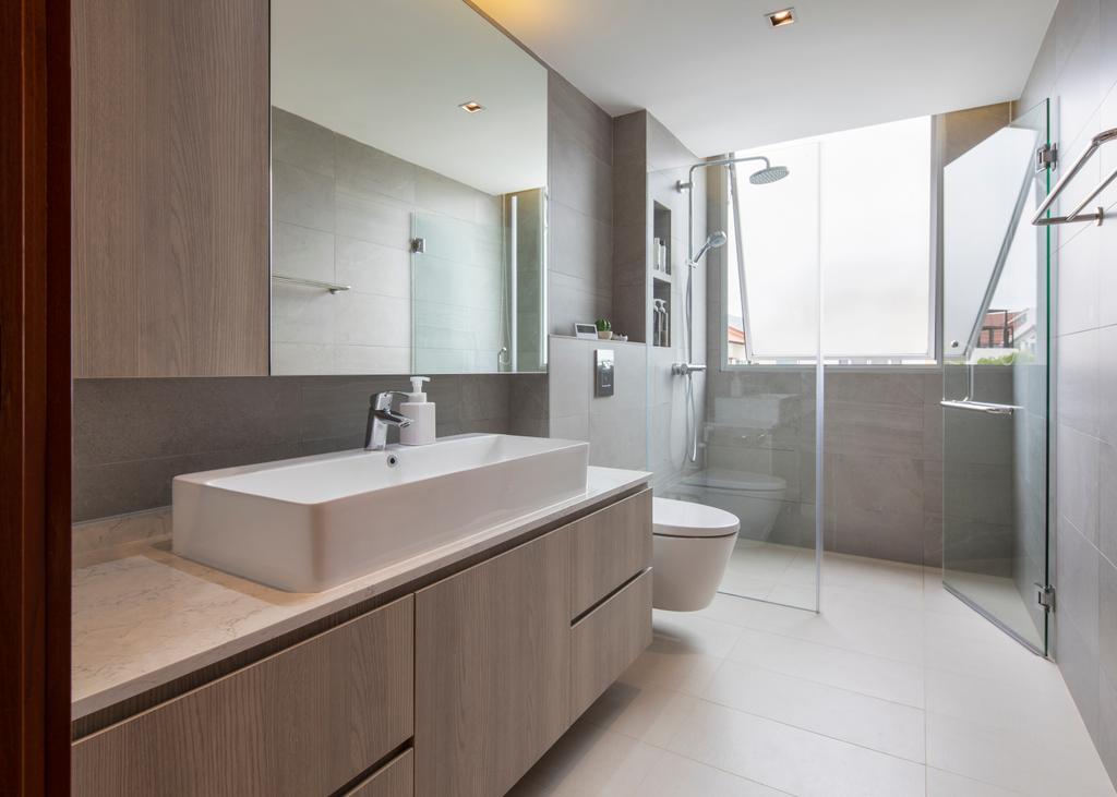 Contemporary, Landed, Bathroom, Chuan View Terrace, Interior Designer, Briey Interior, Transitional