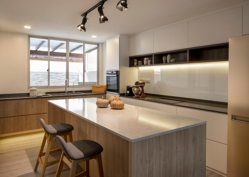 Contemporary, Landed, Kitchen, Chuan View Terrace, Interior Designer, Briey Interior, Transitional