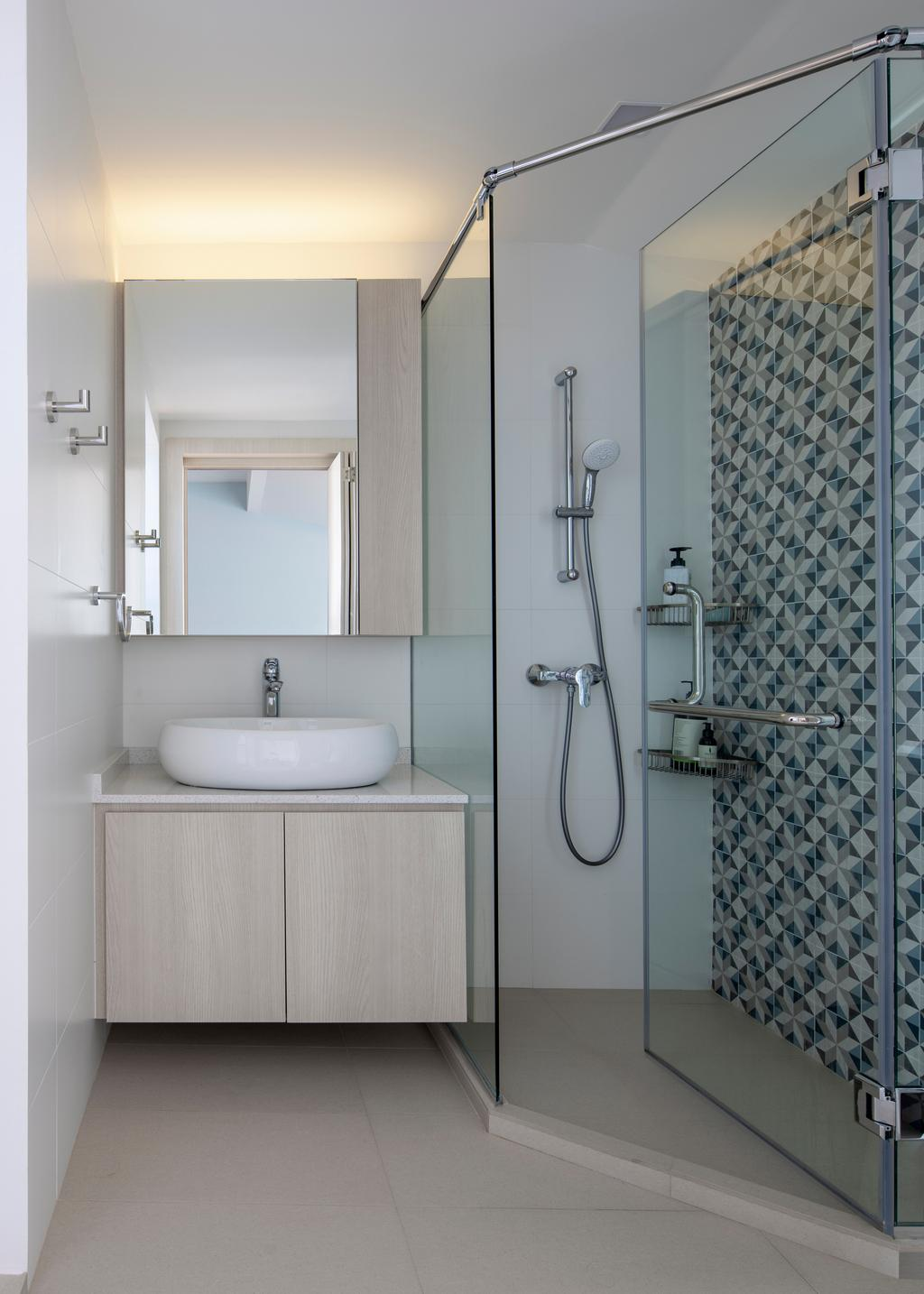 Contemporary, Landed, Bathroom, Chuan View Terrace, Interior Designer, Briey Interior, Transitional
