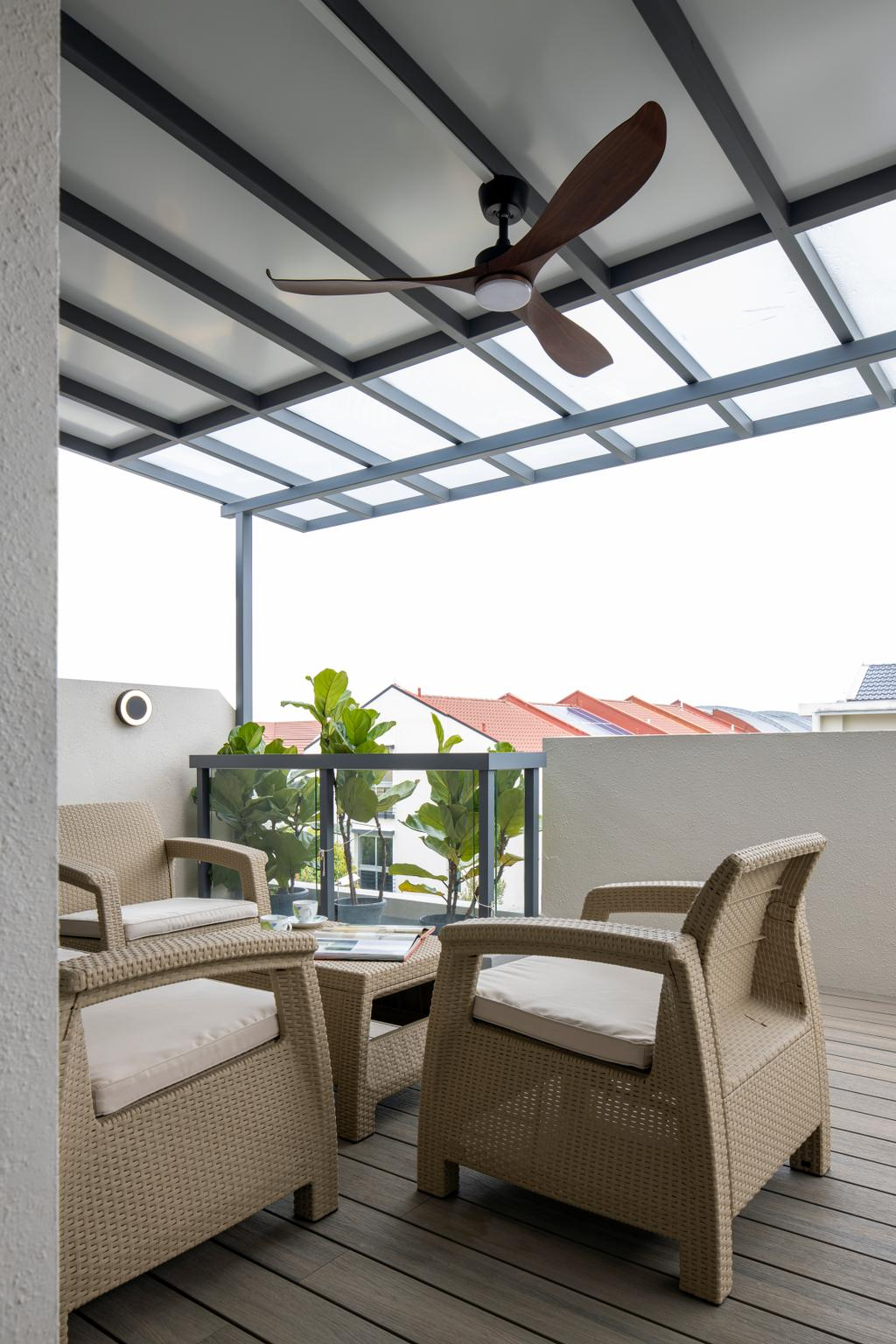 Contemporary, Landed, Balcony, Chuan View Terrace, Interior Designer, Briey Interior, Transitional