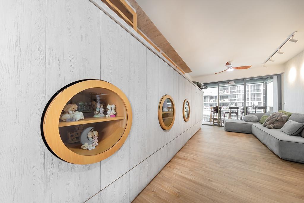 Modern, Condo, Living Room, Sol Acres, Interior Designer, Noble Interior Design