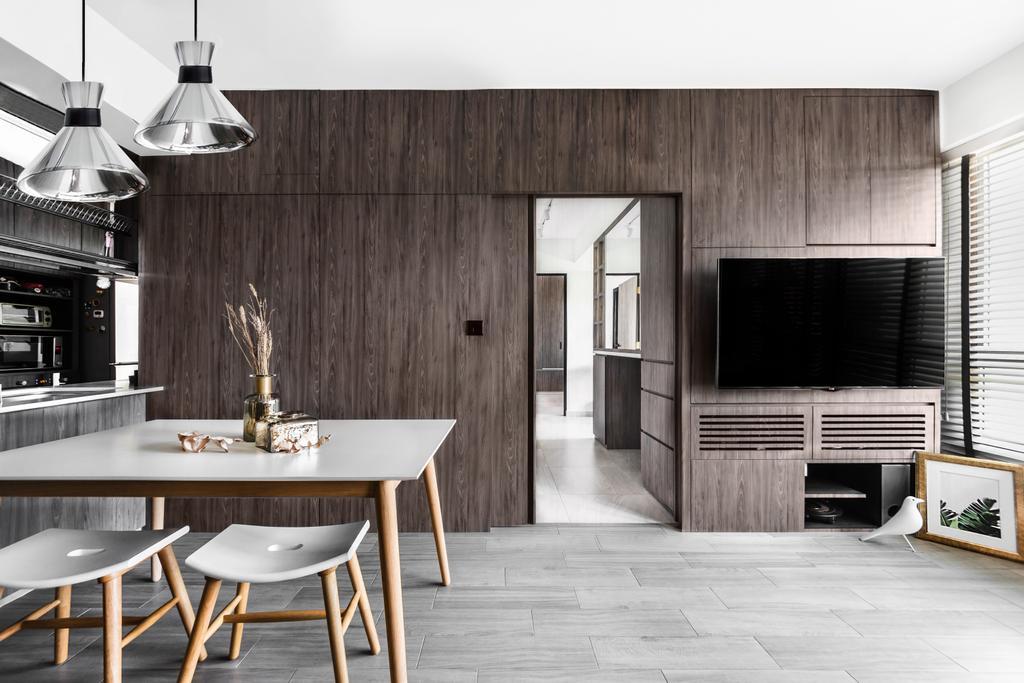 Scandinavian, HDB, Living Room, Telok Blangah Street 31, Interior Designer, DISTINCTidENTITY, Minimalistic, Modern