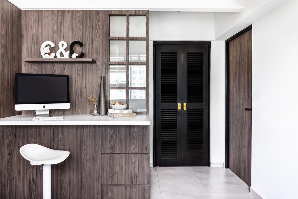 Scandinavian, HDB, Study, Telok Blangah Street 31, Interior Designer, DISTINCTidENTITY, Minimalistic, Modern