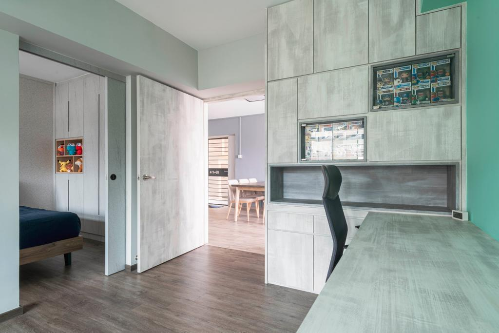 Scandinavian, HDB, Study, Serangoon Avenue 4, Interior Designer, INCLOVER DESIGN