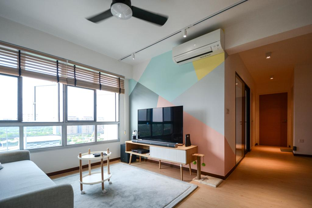Scandinavian, HDB, Living Room, Anchorvale Road, Interior Designer, The Roomakers