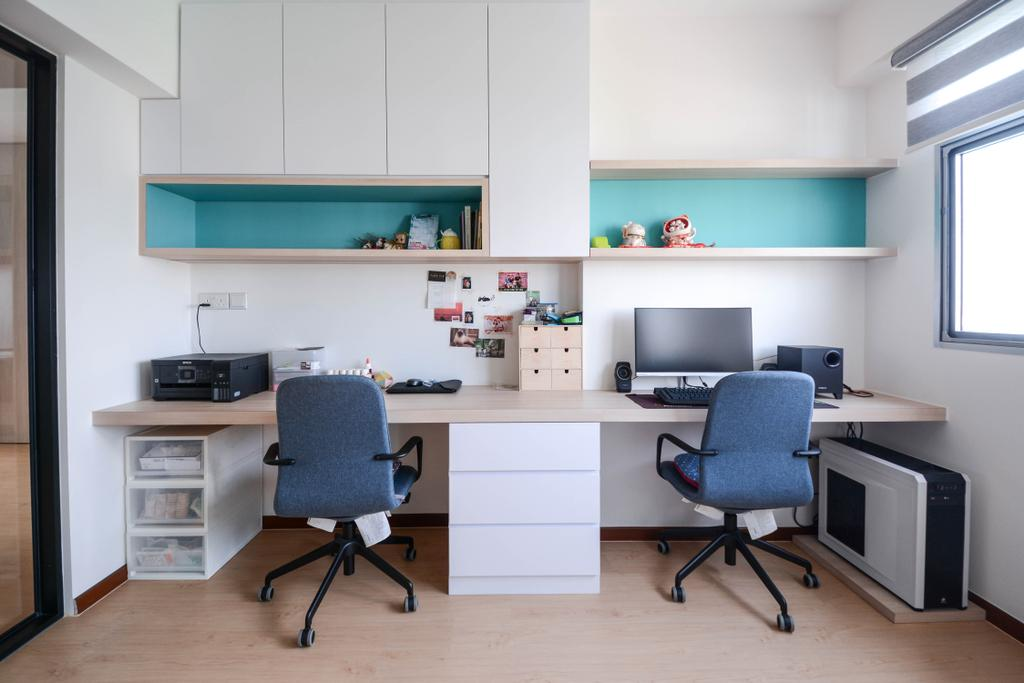 Scandinavian, HDB, Study, Anchorvale Road, Interior Designer, The Roomakers