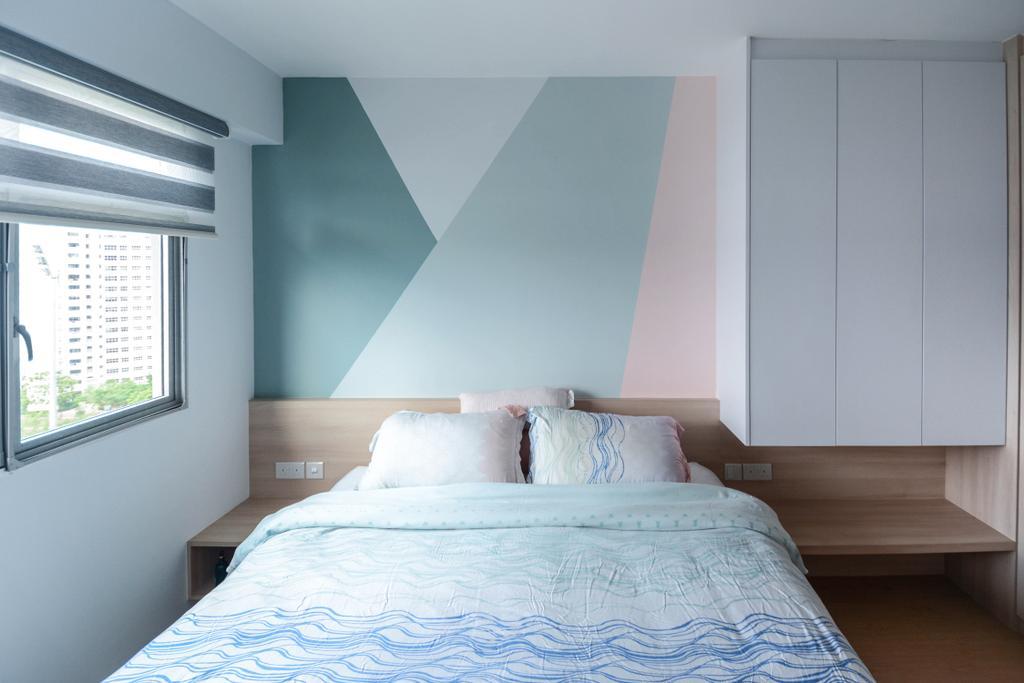 Scandinavian, HDB, Bedroom, Anchorvale Road, Interior Designer, The Roomakers