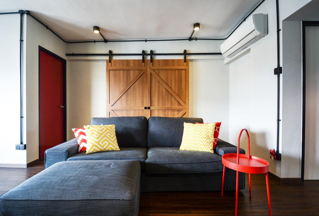 Contemporary, HDB, Living Room, Bedok Reservoir, Interior Designer, The Roomakers