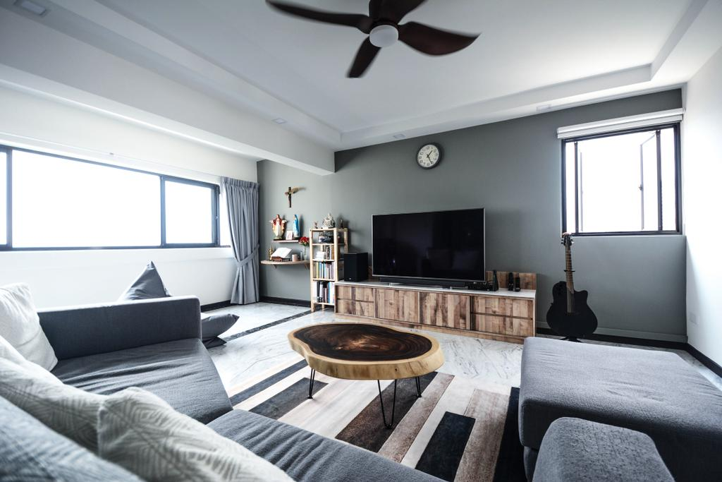 Contemporary, HDB, Living Room, Bukit Batok Street 21, Interior Designer, The Roomakers