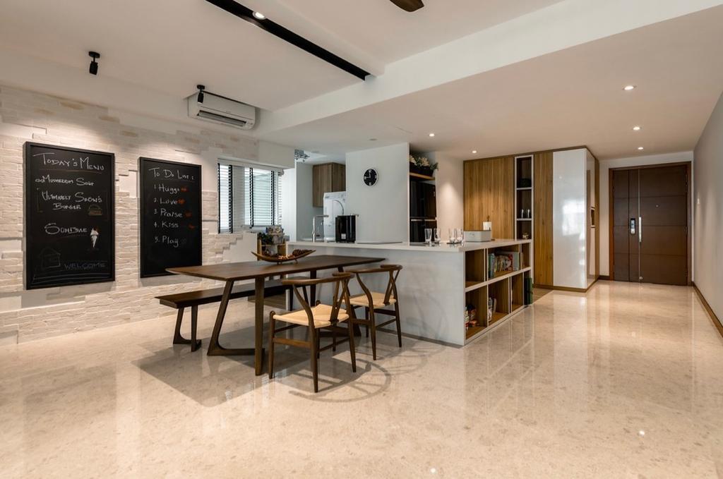Contemporary, Condo, Dining Room, Cote D Azur, Interior Designer, The Orange Cube, Open Kitchen, Kitchen Island