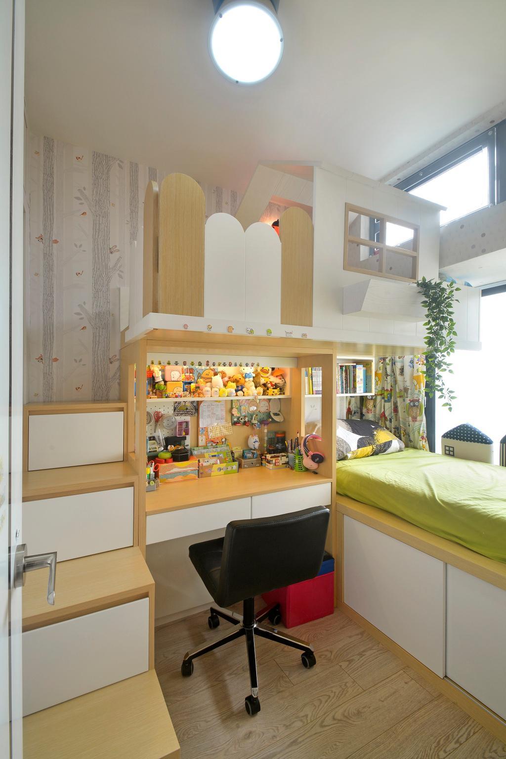 摩登, 私家樓, 睡房, 加惠台, 室內設計師, Space Design