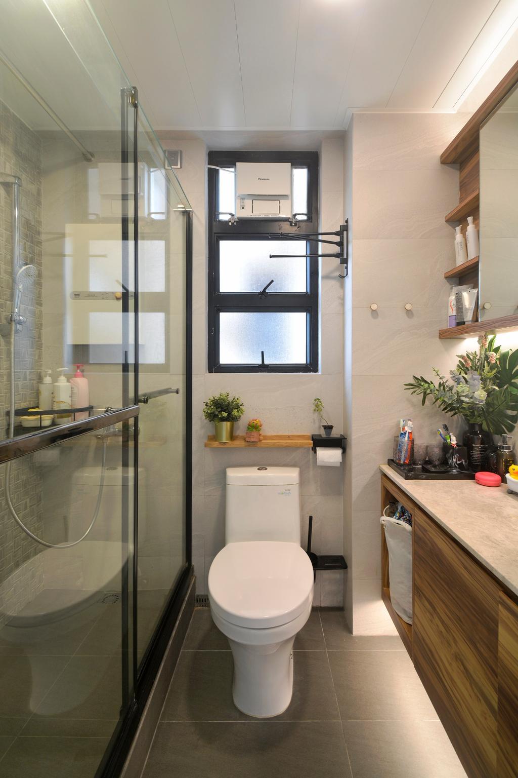 摩登, 私家樓, 浴室, 加惠台, 室內設計師, Space Design