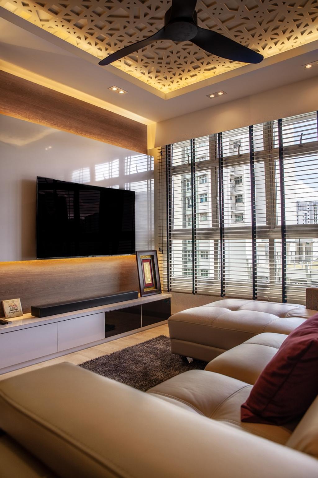 Contemporary, HDB, Living Room, Punggol Place, Interior Designer, Piuttosto Design
