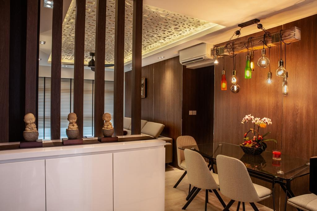 Contemporary, HDB, Dining Room, Punggol Place, Interior Designer, Piuttosto Design