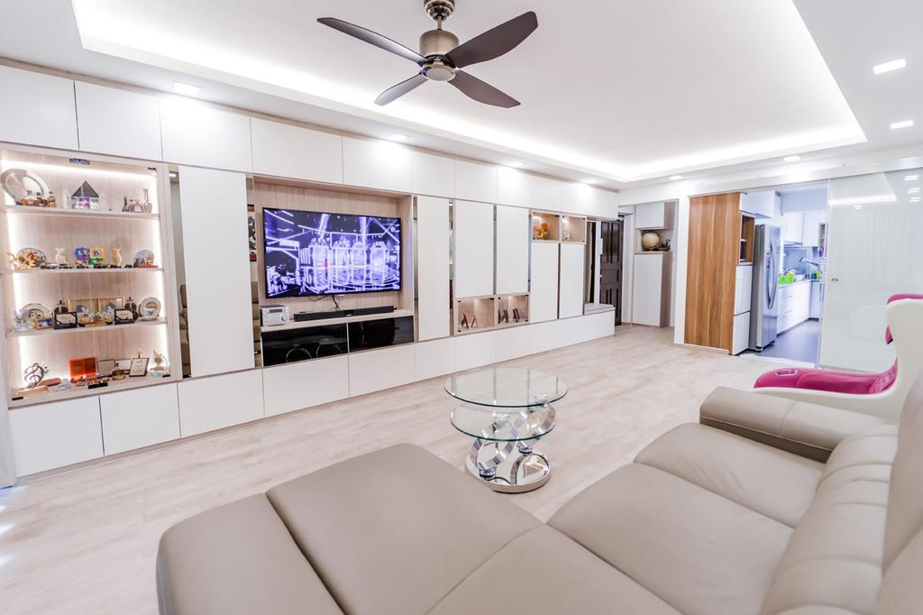 Modern, HDB, Living Room, Ang Mo Kio Avenue 10, Interior Designer, Piuttosto Design, Contemporary
