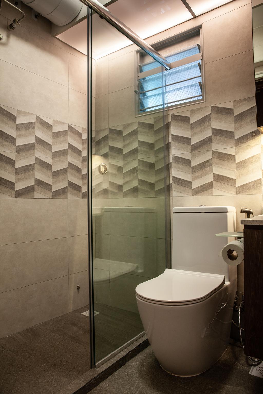 Contemporary, HDB, Bathroom, Punggol Place, Interior Designer, Piuttosto Design
