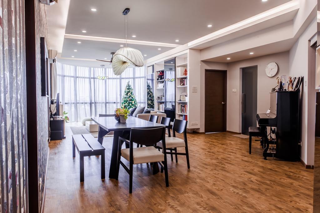 Contemporary, Condo, Dining Room, Parc Oasis, Interior Designer, Piuttosto Design