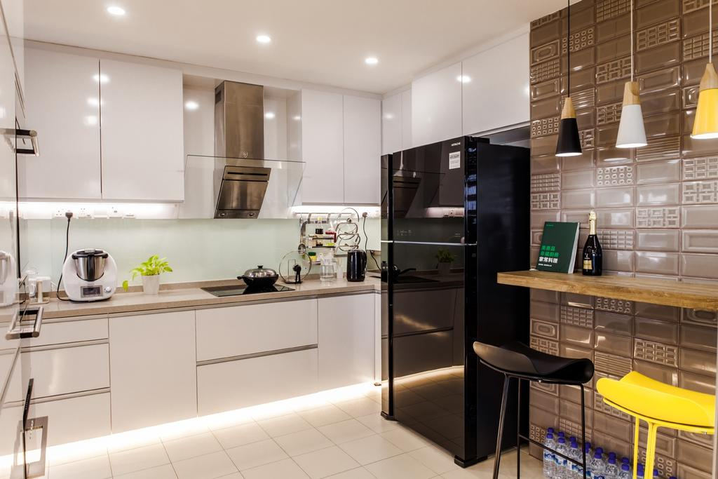 Contemporary, Condo, Kitchen, Parc Oasis, Interior Designer, Piuttosto Design