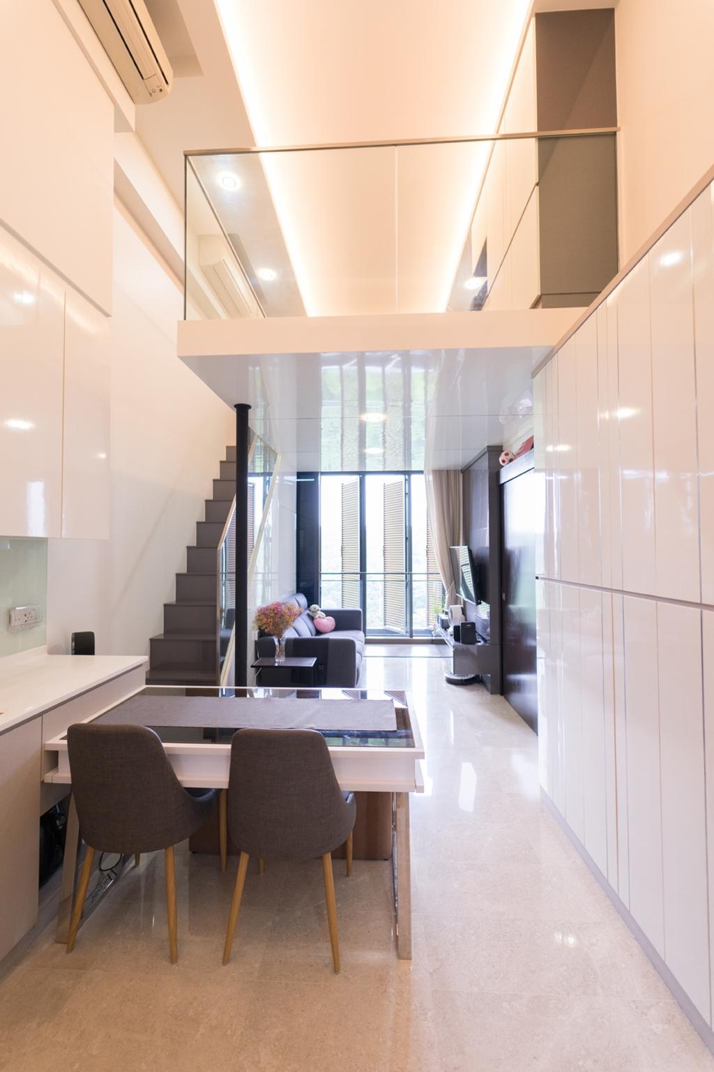 Contemporary, Condo, Living Room, The Hillier, Interior Designer, Piuttosto Design