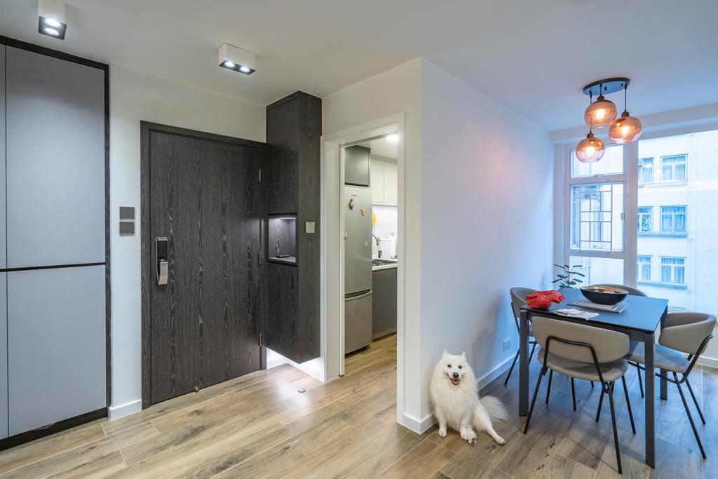 當代, 私家樓, 客廳, 美孚新村, 室內設計師, Shine Interior Design