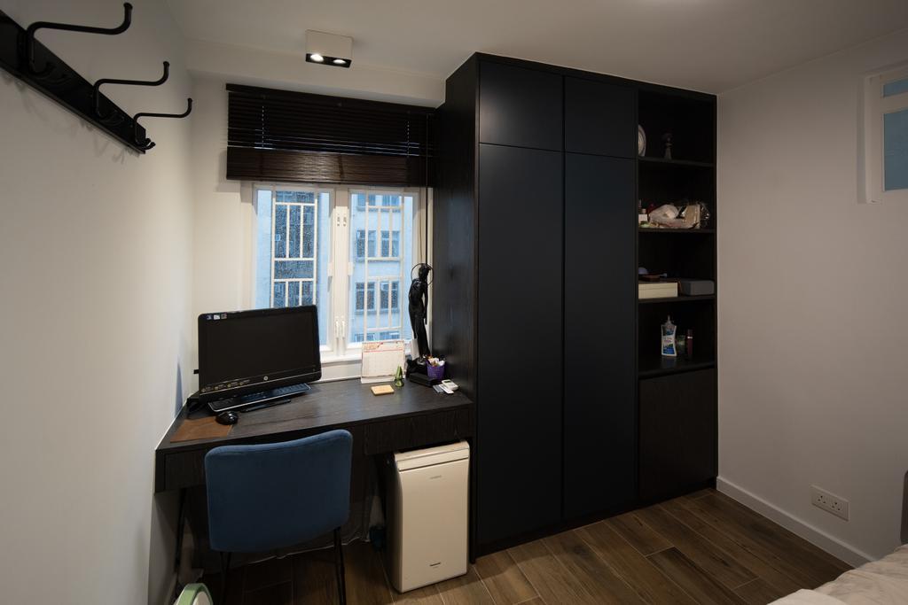當代, 私家樓, 書房, 美孚新村, 室內設計師, Shine Interior Design