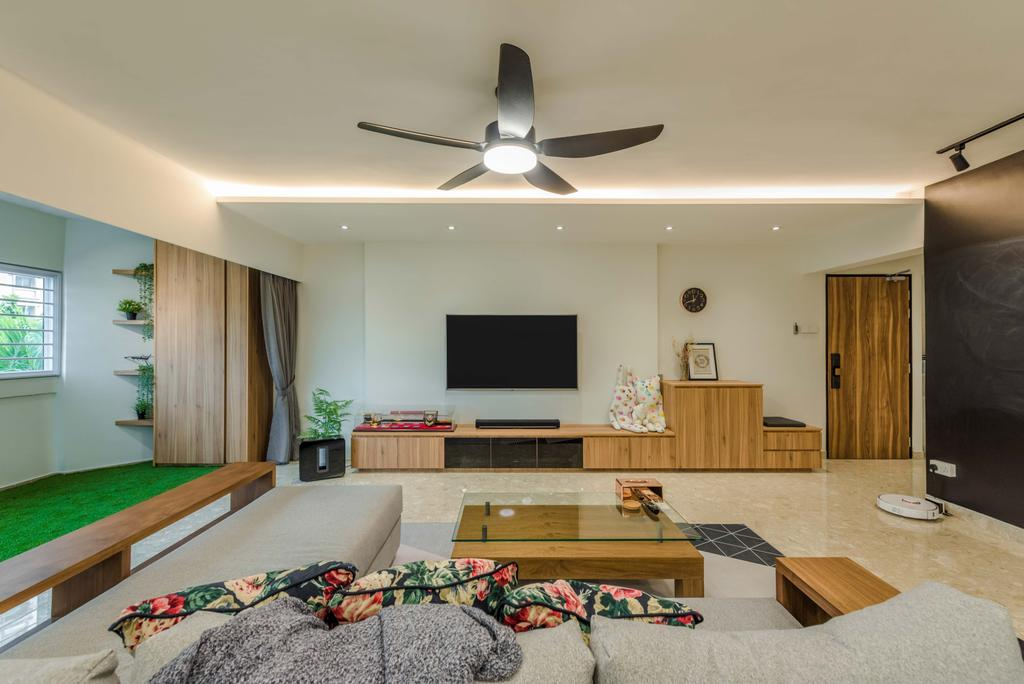 Contemporary, HDB, Living Room, Joo Seng Road, Interior Designer, Tan Studio