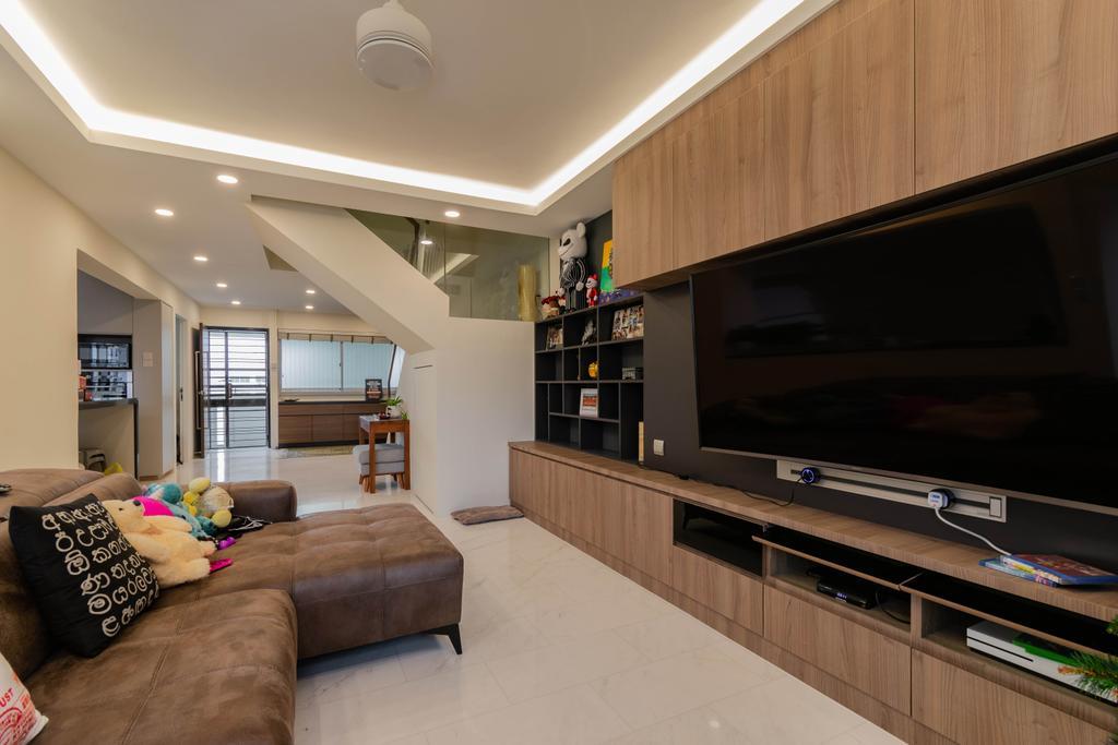 Contemporary, HDB, Living Room, Hougang Street 52, Interior Designer, Yang's Inspiration Design