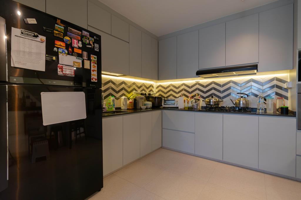 Contemporary, HDB, Kitchen, Hougang Street 52, Interior Designer, Yang's Inspiration Design