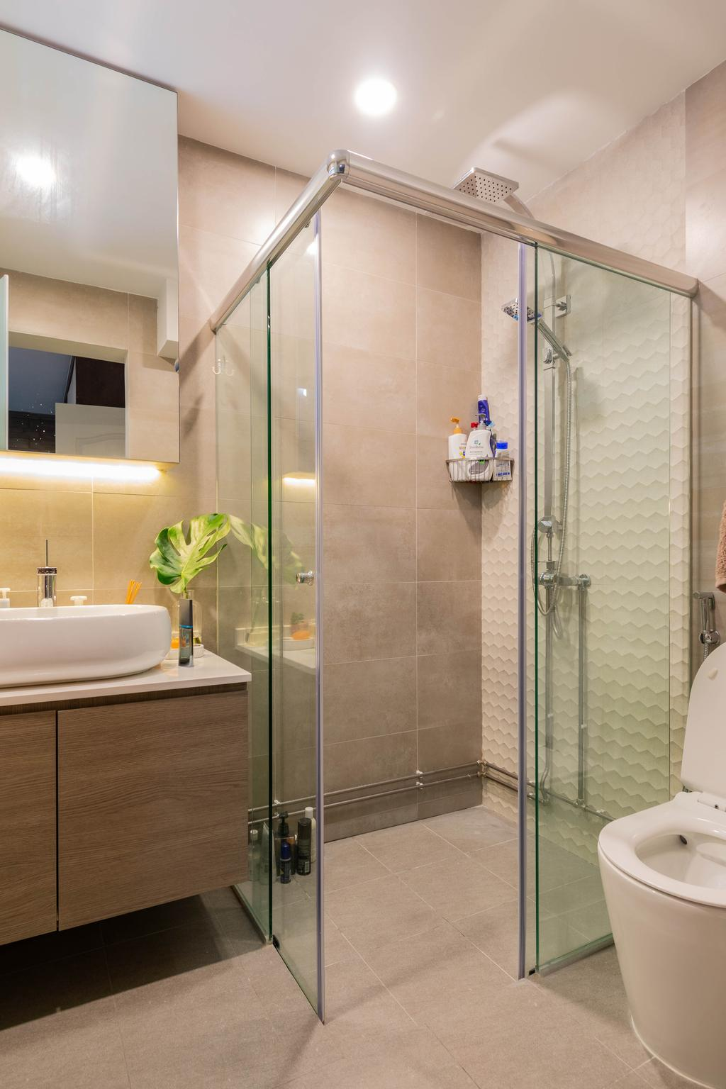 Contemporary, HDB, Bathroom, Hougang Street 52, Interior Designer, Yang's Inspiration Design