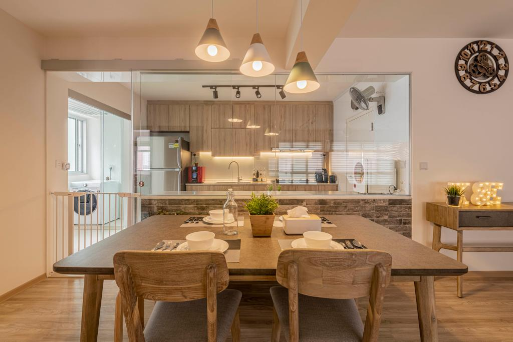 Scandinavian, HDB, Dining Room, Bukit Batok West Avenue 5, Interior Designer, Yang's Inspiration Design