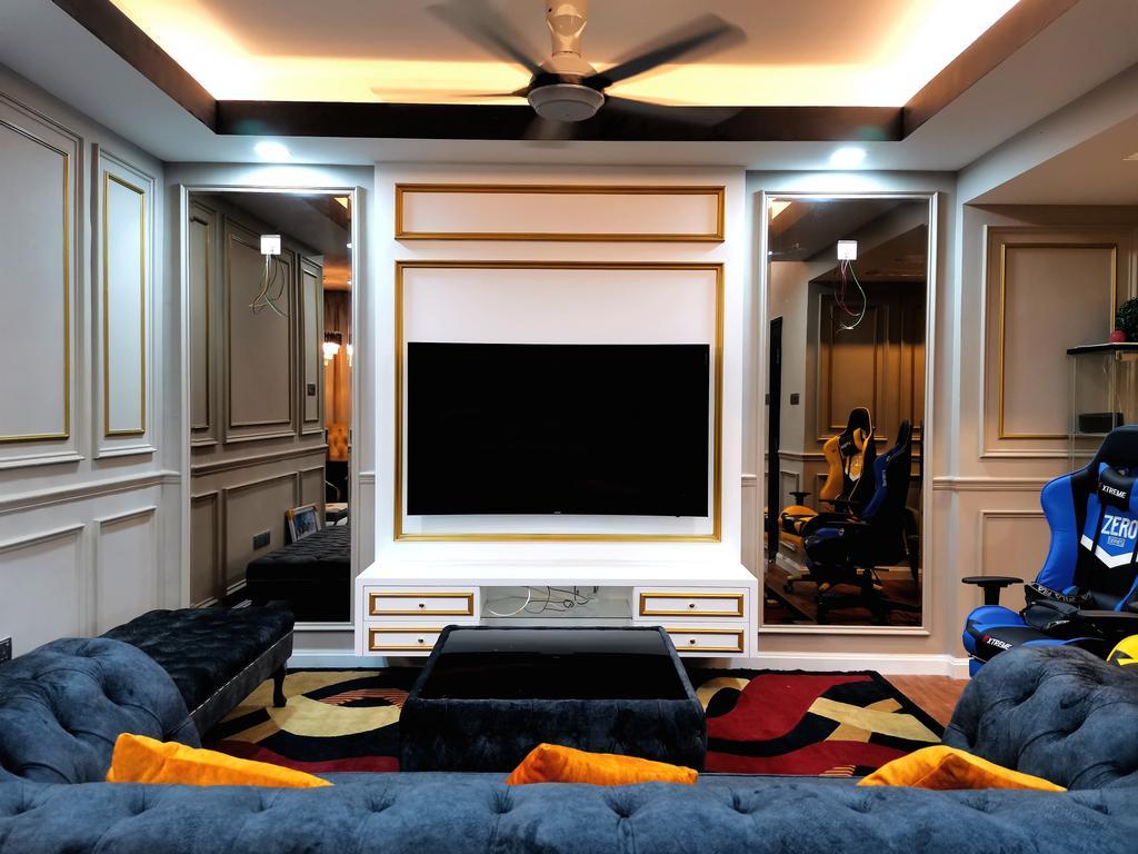 Modern, Landed, Living Room, Bandar Baru Sg. Buloh, Selangor, Interior Designer, MFK Design Concept