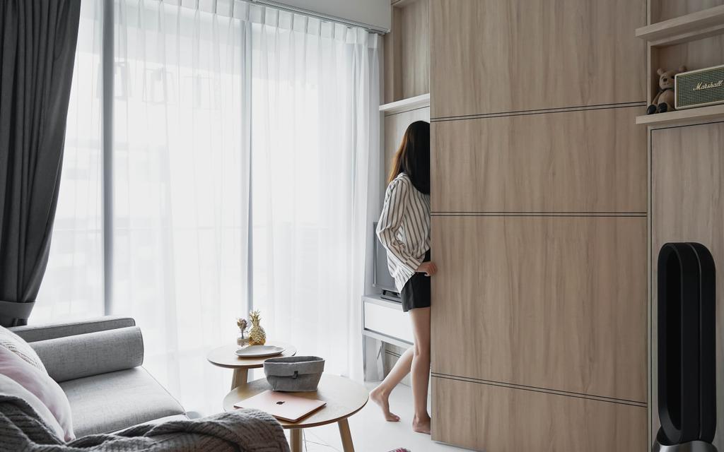 Scandinavian, Condo, Living Room, Trilive, Interior Designer, Authors • Interior & Styling