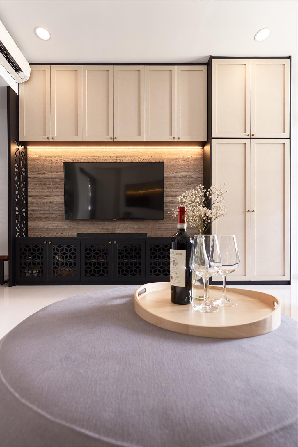 Contemporary, Condo, Living Room, Straits Mansion, Interior Designer, J Design & Build