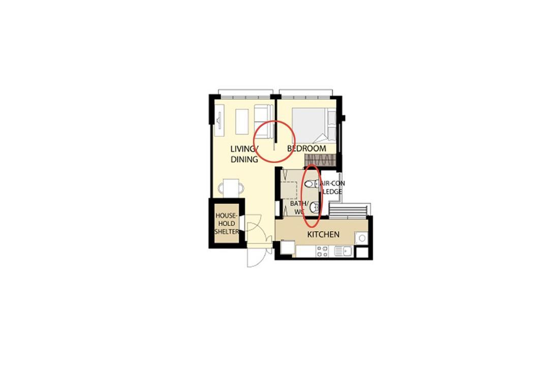layouts for 2-room hdb bto studio apartments