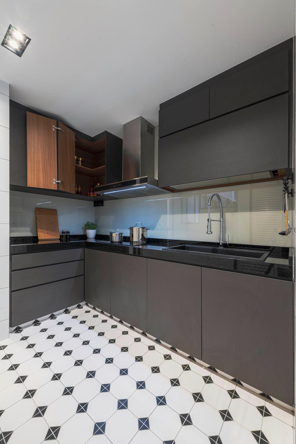 Contemporary, HDB, Kitchen, Clementi Street 14, Interior Designer, Voila