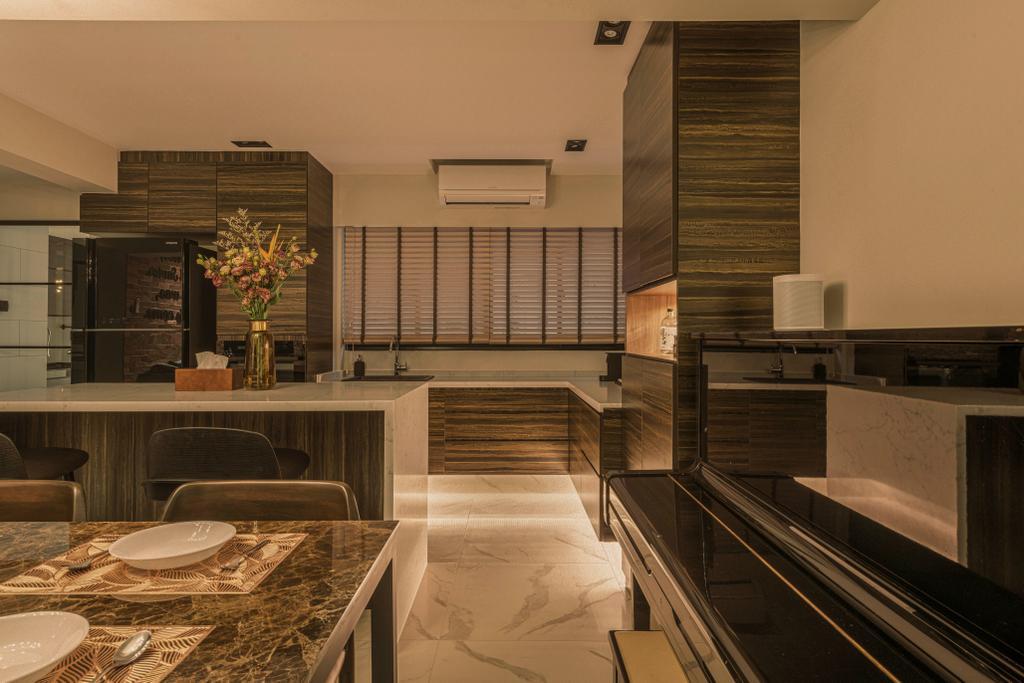 Contemporary, HDB, Dining Room, Clementi Street 14, Interior Designer, Voila