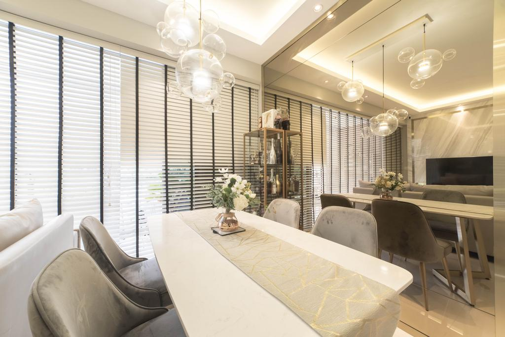 Contemporary, Condo, Dining Room, Bartley Residences, Interior Designer, MET Interior