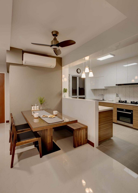 Modern, HDB, Dining Room, Woodlands Rise, Interior Designer, Space Factor