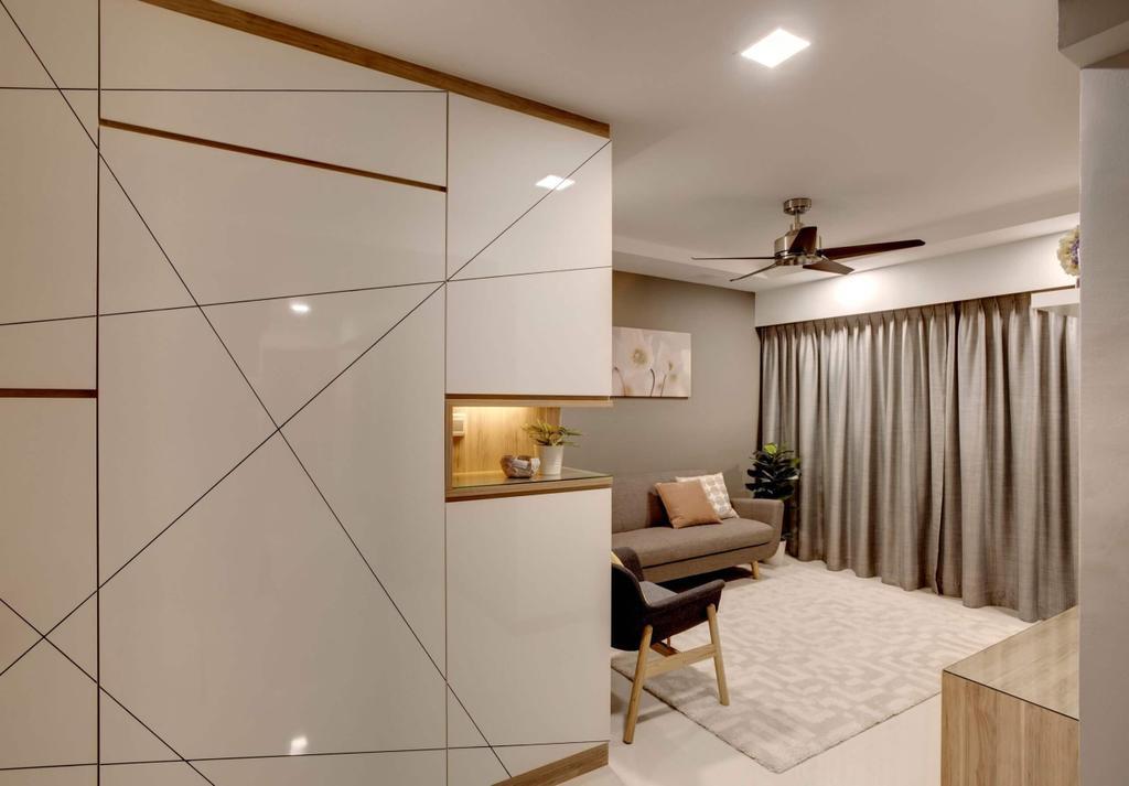 Modern, HDB, Living Room, Woodlands Rise, Interior Designer, Space Factor
