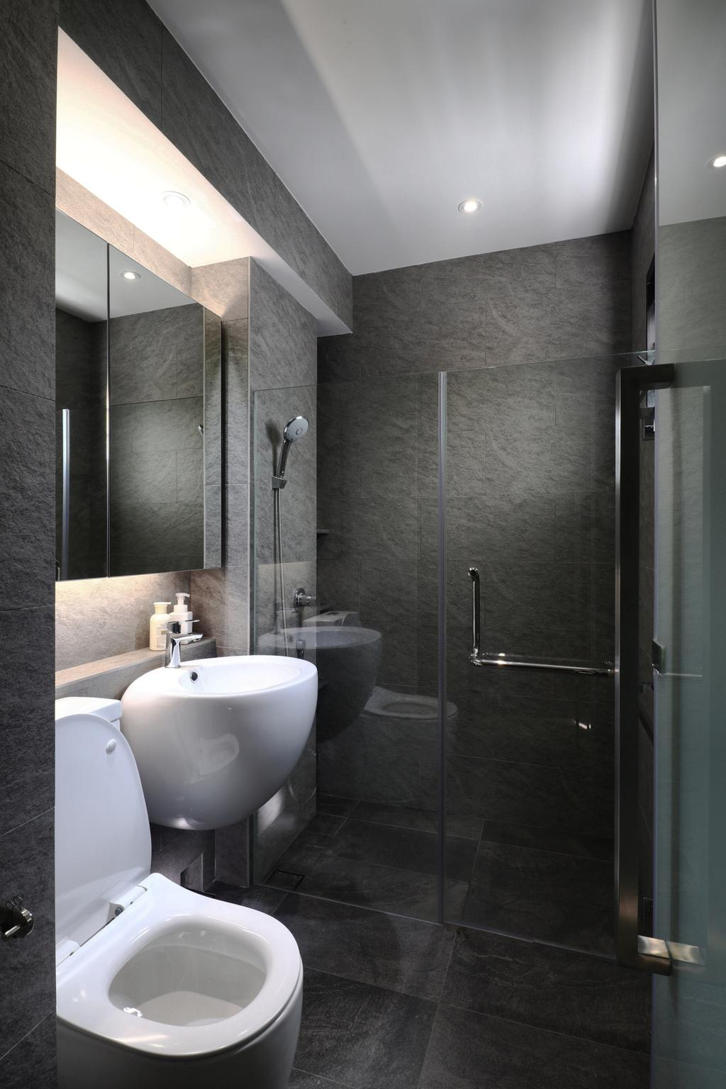 Modern, HDB, Bathroom, Tampines Street 21, Interior Designer, ISH Interior Design