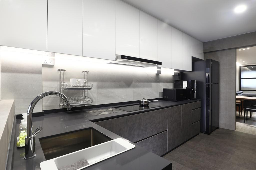 Modern, HDB, Kitchen, Tampines Street 21, Interior Designer, ISH Interior Design