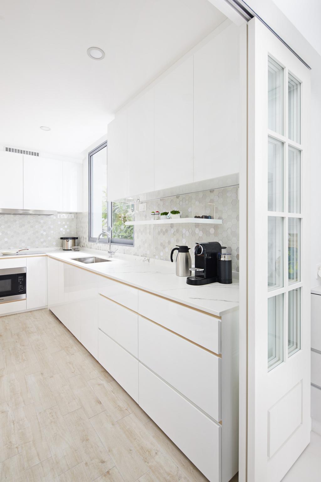 Minimalist, Condo, Kitchen, Farrer Road, Interior Designer, Black N White Haus, Contemporary