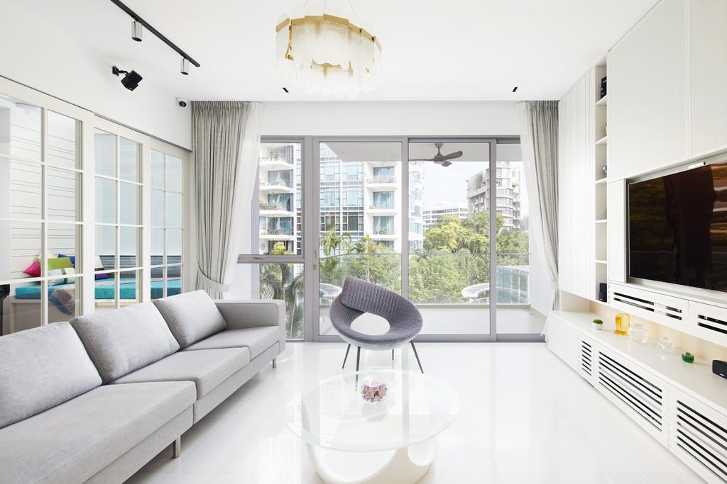 Minimalist, Condo, Living Room, Farrer Road, Interior Designer, Black N White Haus, Contemporary