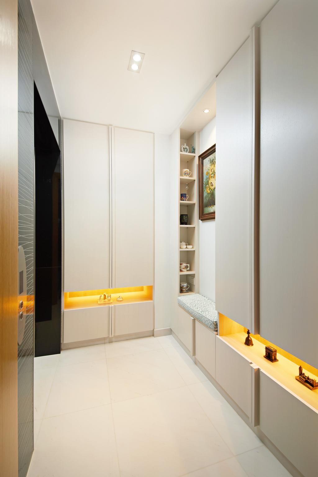 Minimalist, Condo, Farrer Road, Interior Designer, Black N White Haus, Contemporary, Shoe Cabinet, Foyer, Entrance, Corridor, Hallway