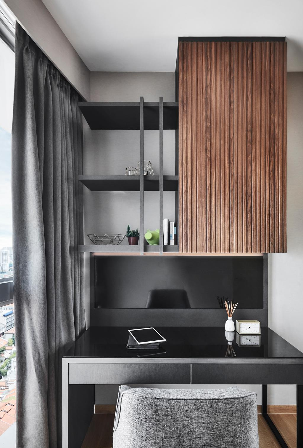Contemporary, Condo, Study, Beach Road, Interior Designer, Black N White Haus