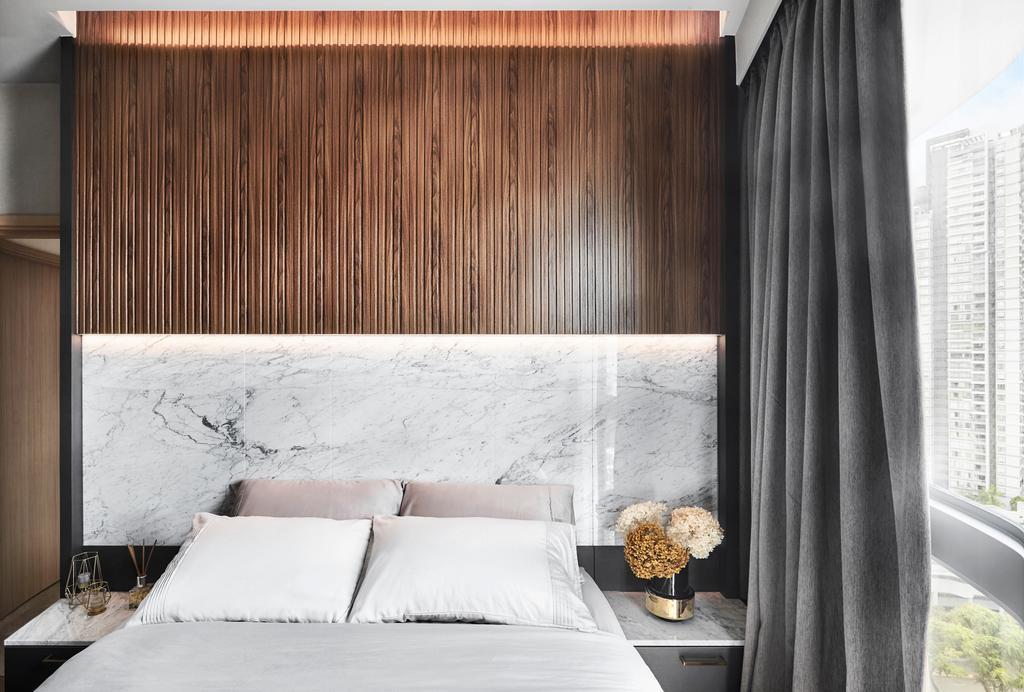 Contemporary, Condo, Bedroom, Beach Road, Interior Designer, Black N White Haus