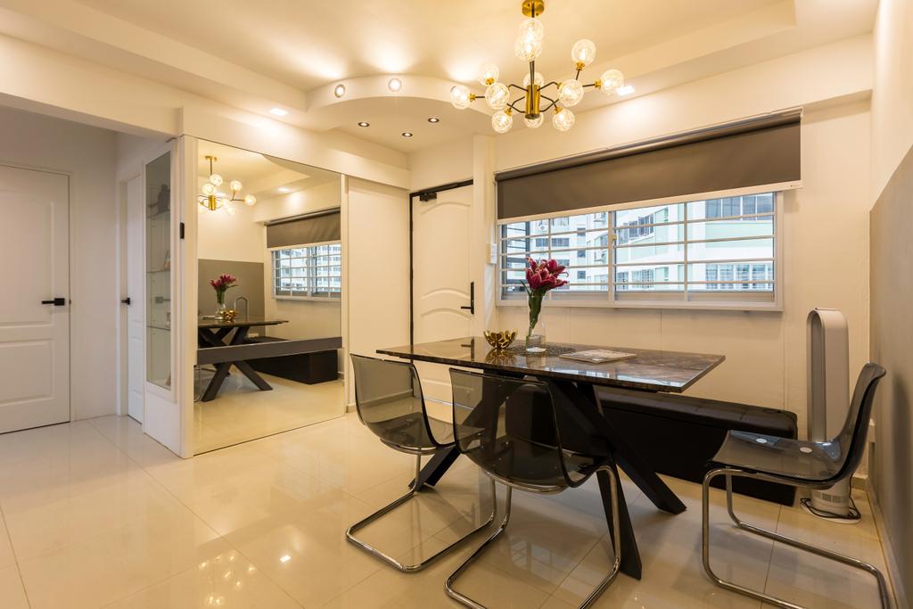 Contemporary, HDB, Dining Room, Pasir Ris Street 11, Interior Designer, Yang's Inspiration Design