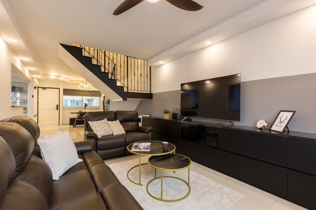 Contemporary, HDB, Living Room, Pasir Ris Street 11, Interior Designer, Yang's Inspiration Design, Maisonette