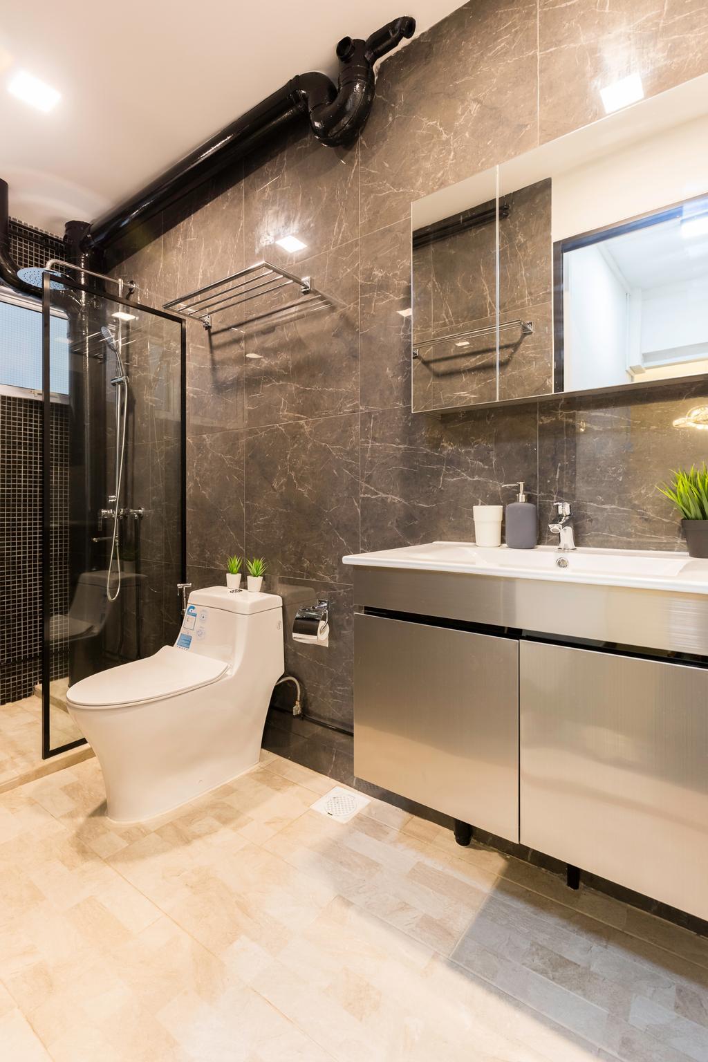 Contemporary, HDB, Bathroom, Pasir Ris Street 11, Interior Designer, Yang's Inspiration Design