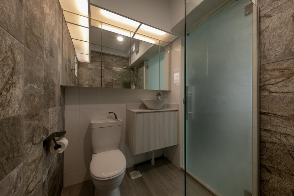 Modern, HDB, Bathroom, Circuit Road, Interior Designer, Space Atelier